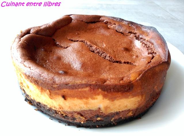 Pastís de formatge amb xocolata