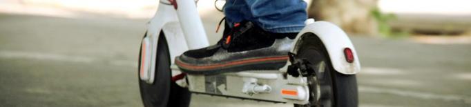 Sorprès un menor d'11 anys circulant amb un patinet elèctric a Lleida