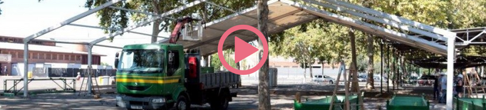 ⏯️ Desmunten la carpa de Fira de Lleida per al confinament de temporers i sensesostre