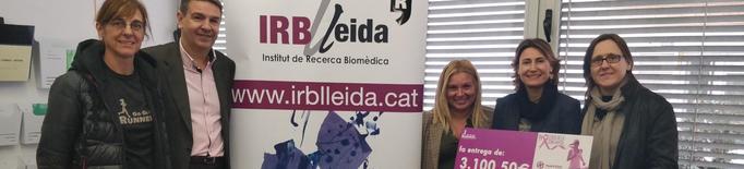 La Cursa de la Dona entrega 3.100€ a l'IRBLleida per la lluita contra el càncer de mama