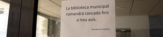 Cartell informatiu sobre el tancament preventiu de la Biblioteca Municipal de Castellserà pel cas de coronavirus