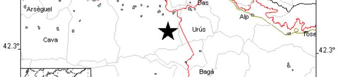 L'Institut Cartogràfic registra un sisme de magnitud 2,3 a la Cerdanya, entre Urús i Prullans