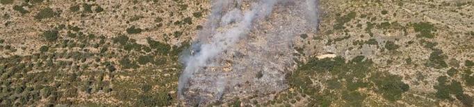 Els Bombers estabilitzen un incendi que ha cremat 35 hectàrees a la Noguera