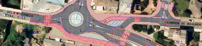 Licitació per construir una rotonda a la C-13 a Tremp