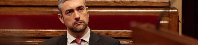 Pla mitjà del conseller d'Acció Exterior i Transparència, Bernat Solé