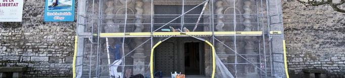 Restauren el pòrtic barroc de Sant Ramon i tornaran a exhibir-lo al maig