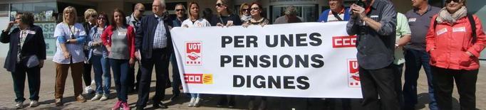 """Els sindicats insisteixen: """"Cal blindar les pensions"""""""