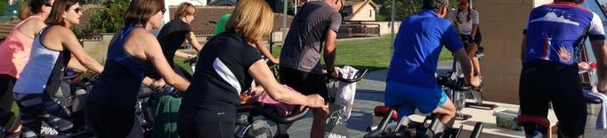 El CT Lleida pedala dotze hores en suport a un projecte de l'IRB