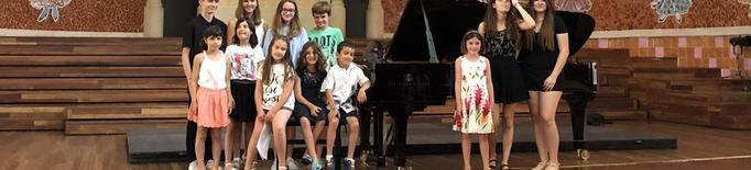 Joves pianistes del Conservatori de Cervera, al Palau de la Música