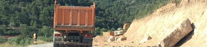Les obres a la carretera de Cervià a la capital obliguen a tallar el trànsit