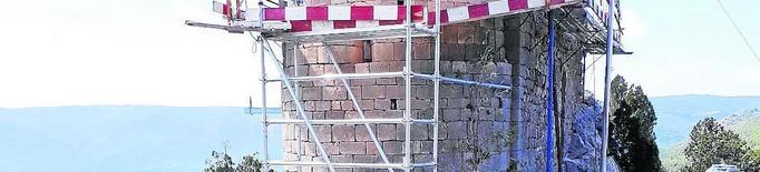 Les obres de l'ermita de la Pertusa, a punt a l'octubre