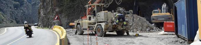 Excavats nou metres del túnel de Tres Ponts a la C-14