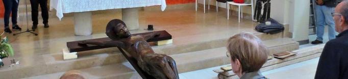 El Sant Crist de Cervera 'viatja' a Barcelona per ser restaurat