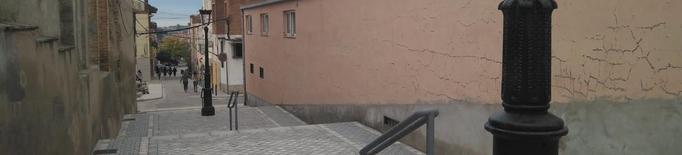 Almacelles estrena les noves escalinates del carrer Orient