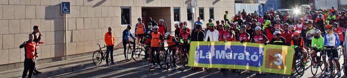 Pedalada per la Marató de TV3 al Sícoris Club