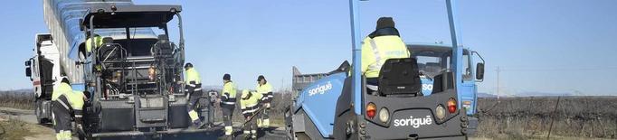 La Paeria ja repara el camí que va a la Saira i a l'aeroport de Lleida