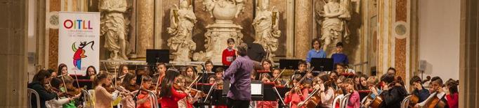 Debut de l'orquestra infantil de l'OJC a Cervera