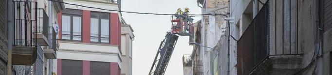 Ferit per cremades l'incendiar-se una casa okupada a Tàrrega