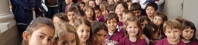 Estudiants de música de la Seu, en una trobada a Manresa