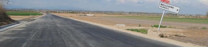 La carretera de Bellcaire a Linyola, llesta en dos setmanes