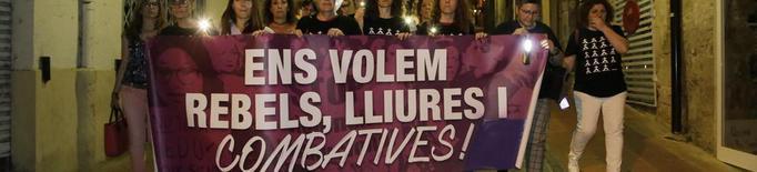 Marxa nocturna a Lleida contra la violència masclista