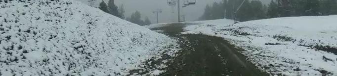 Neva en ple juny al Pirineu