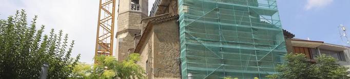 Obres a l'església d'Alpicat per poder reobrir-la aquest hivern