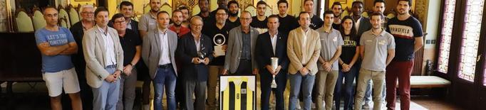Recepció a la Paeria al Pardinyes per guanyar la Lliga