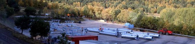 Treballs amb helicòpter per al telecadira d'Espot