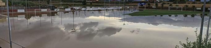 La pluja afecta el futbol