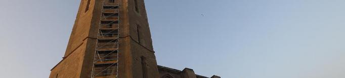 La bastida per restaurar la torre de la Seu Vella comença a 'pujar'
