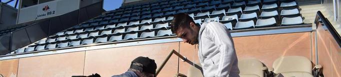 El Lleida Esportiu inicia la renovació dels 58 seients de la llotja
