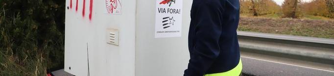 Els Mossos comptabilitzen divuit radars inutilitzats a Lleida pel sabotatge