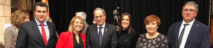 Premi de turisme de la Generalitat al 'mar rosa' de fruiters d'Aitona
