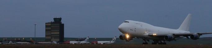 L'avió més gran que s'enlaira a Alguaire, rumb als EUA