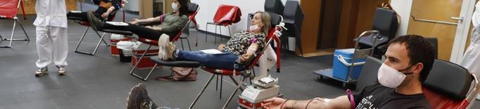 Unes 35 persones van donar sang aquest dijous a la Llotja