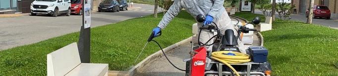 Desinfecció de carrers i places a Almacelles