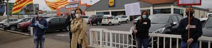 Protesta sindical a Lidl a Lleida i clausura a Fraga amb una jornada de vaga