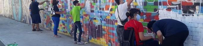 Mural commemoratiu dels 25 anys de Down Lleida