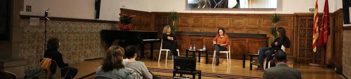 'Lliçó' inaugural a l'IEI amb Isona Passola, Lara Díez i Lídia Pujol