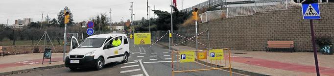 L'entrada del pàrquing de l'Arnau, al costat d'Urgències
