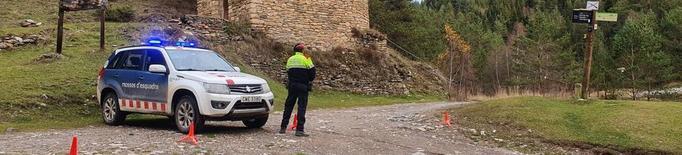 Controls per evitar vehicles al parc de l'Alt Pirineu