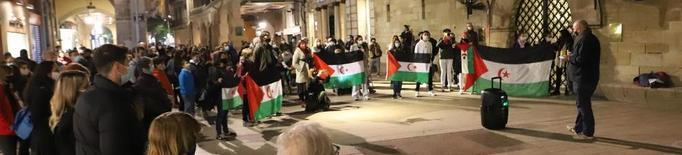Concentració a Lleida en solidaritat amb el Sàhara