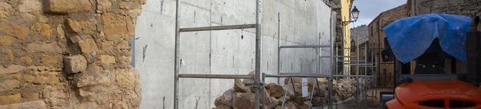 Els Omells repara desperfectes del Glòria deu mesos després
