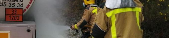 Incident d'un camió cisterna a l'Alt Urgell