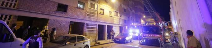 Incendi en un pis de la Granja d'Escarp