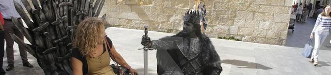 Les estàtues humanes de la Rambla tornen per animar l'Eix Comercial