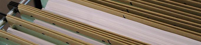 Papers, arxiu de documents. Imatge arxiu
