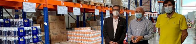 La Diputació dona suport a la tasca social del Banc dels Aliments