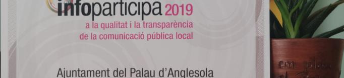 L'Ajuntament del Palau d'Anglesola rep el reconeixement a la qualitat i transparència informativa